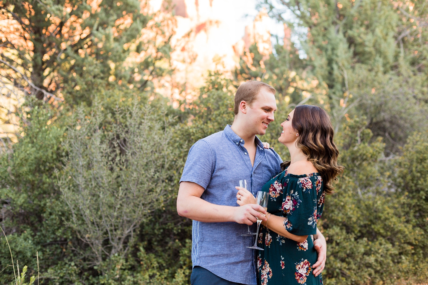 adorable engagement session in sedona