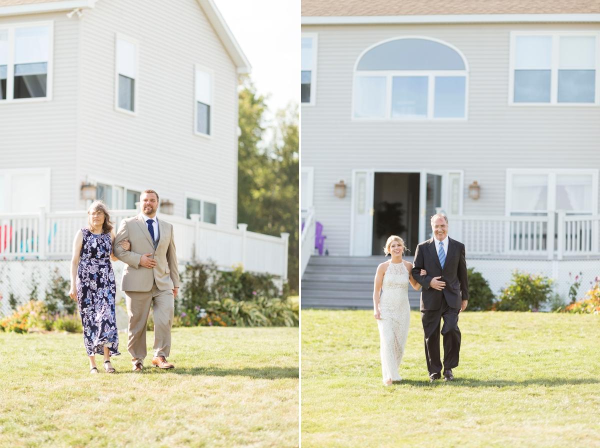 Maine wedding photographer, New England wedding, Maine destination wedding, searsport Maine, ocean wedding, boho wedding, diy wedding, Portside manor, ocean view wedding, wedding ceremony