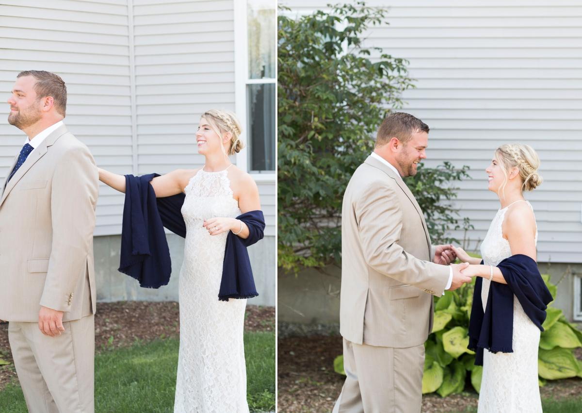 Maine wedding photographer, New England wedding, Maine destination wedding, searsport Maine, ocean wedding, boho wedding, diy wedding, Portside manor, first look, boho bride