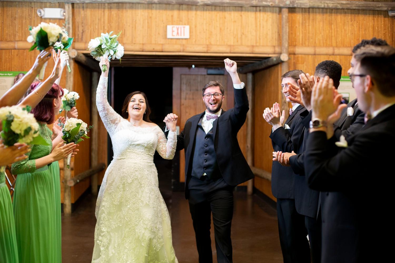 Phoenix zoo wedding, phoenix wedding photographer, arizona destination wedding, wedding in phoenix, intimate wedding inspiration, green wedding, small wedding, Orangutan hut wedding reception, wedding grand entrance