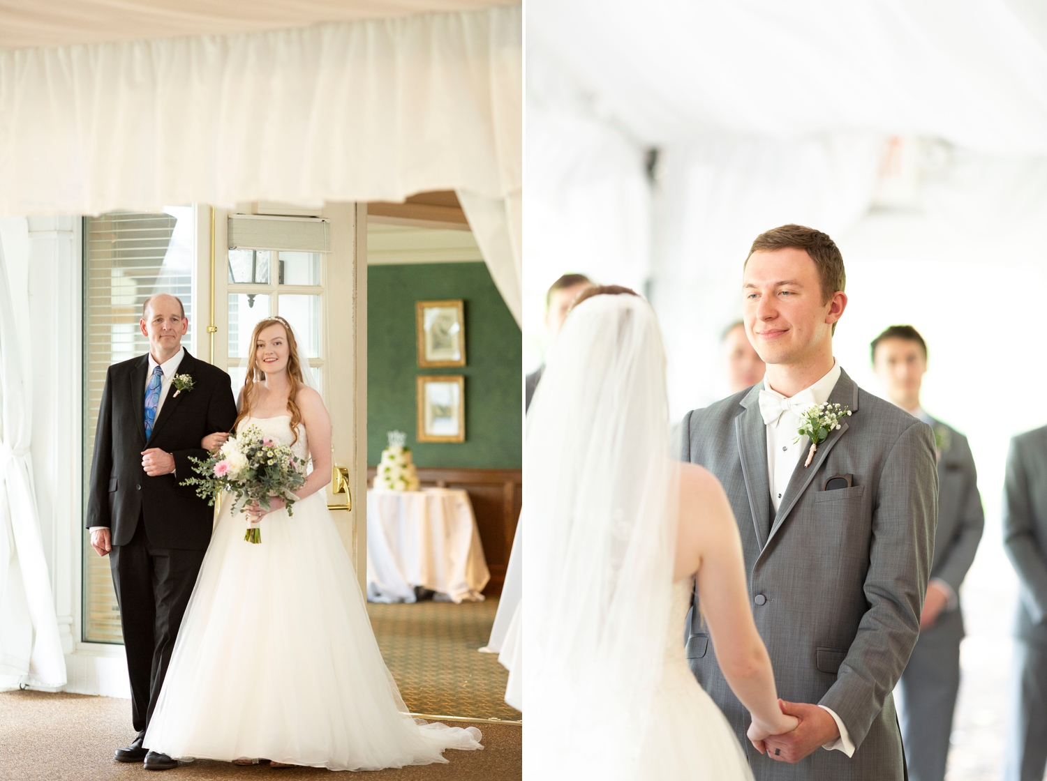 The lakes golf and country club, Westerville ohio, Westerville wedding, dublin wedding, columbus wedding photography, vow renewal, tent wedding, country club wedding, golf course wedding, christian wedding, wedding ceremony, bride walking down aisle