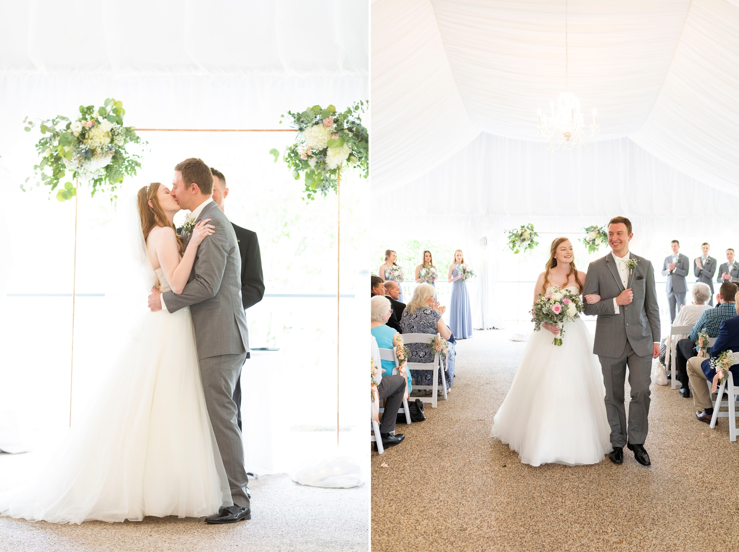 The lakes golf and country club, Westerville ohio, Westerville wedding, dublin wedding, columbus wedding photography, vow renewal, tent wedding, country club wedding, golf course wedding, christian wedding, wedding ceremony, first kiss, tradition wedding, blue wedding