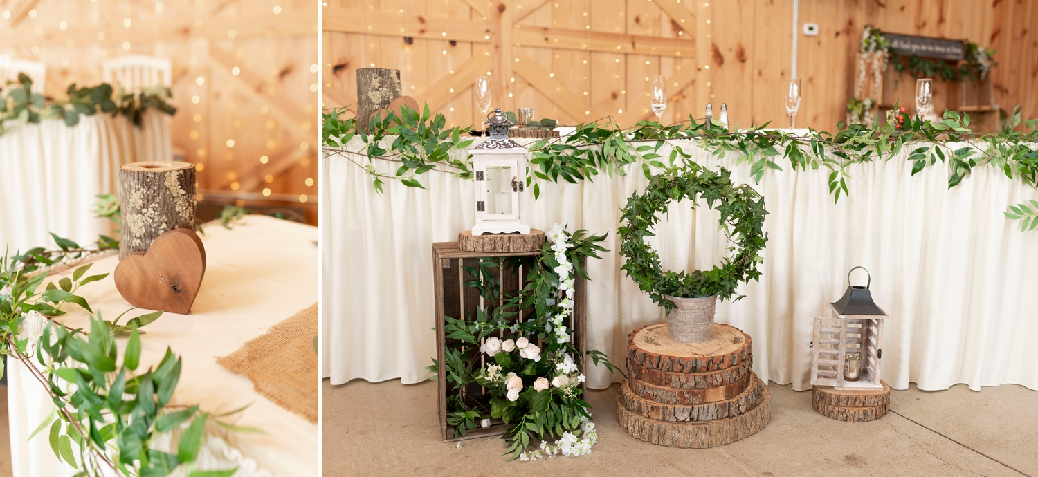 the flowerman columbus, wedding reception, tablescape, rustic wedding details, Barn at the backwoods, rustic wedding venues, thornville wedding, rustic wedding inspiration, Columbus wedding photographer, columbus wedding photography, country wedding, backwoods wedding, summer wedding,