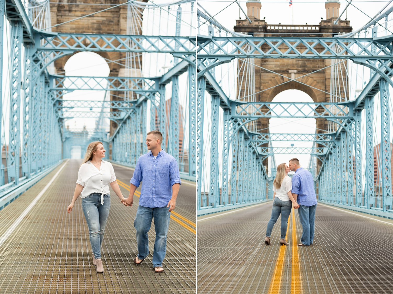 roebling bridge, engagement session, downtown Cincinnati, Cincinnati engagement session, engagement photos, spring engagement photos, roebling bridge photos, downtown Cincinnati engagement photos, Cincinnati engagement photographer, ohio engagement photos
