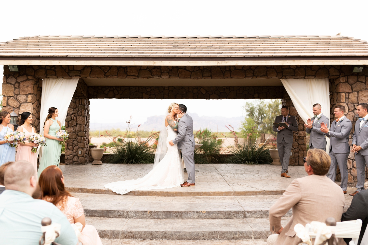 first kiss, wedding ceremony, candid wedding, documentary photography, Superstition Manor, Superstition Wedding, Spring Wedding Inspiration, Arizona Destination Wedding, Arizona Wedding Photographer, Mesa Wedding Venues, Destination Wedding, Superstition Springs, arizona wedding