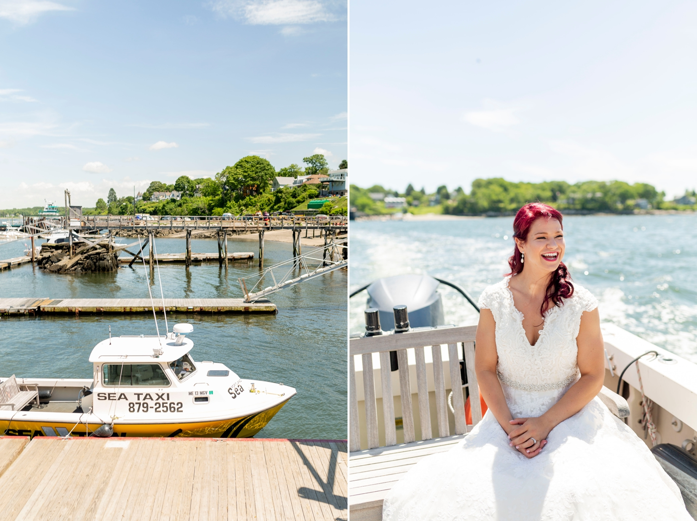 winnie couture wedding dress, water taxi, candid wedding, documentary wedding photographer, candid wedding photographer, Inn on Peaks Island, Casco Bay, Portland Maine, Maine Wedding, Maine Destination Wedding, Peaks Island Wedding, Maine Wedding Photographer, peaks island Maine wedding, wedding in Maine, destination wedding photographer, peaks island Maine, Portland Maine summer, blue wedding colors, islands of casco bay, casco bay island ferry, old port wedding photos, greater portland