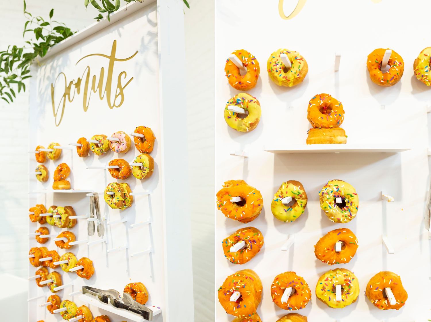 donut wall, wedding donuts, donut wall at wedding, wedding food ideas, the pro experience, the madison venue, cleveland wedding photographer, the madison wedding venue, a taste of excellence catering, a charming fete, cle music group, ohio wedding photographer, wedding photographer in cleveland, the knot cleveland, summer wedding ideas, luxury wedding, summer wedding colors, orange wedding, polka dot wedding, nuage designs inc, event source rentals, borrow curated